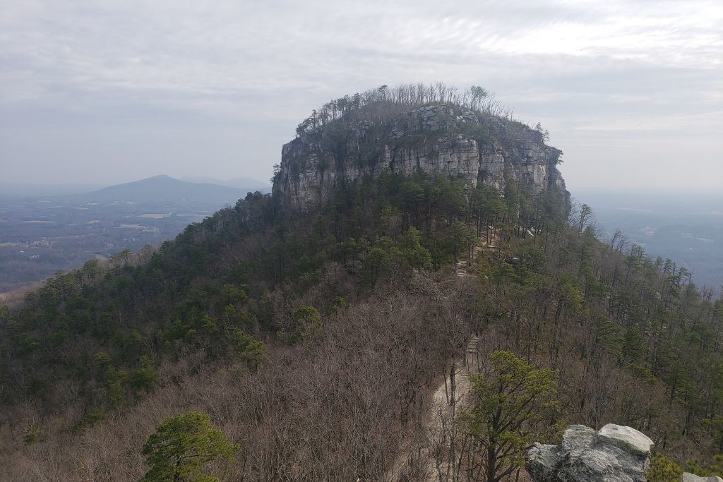 You can see a walking trail that leads to Big Pinnacle