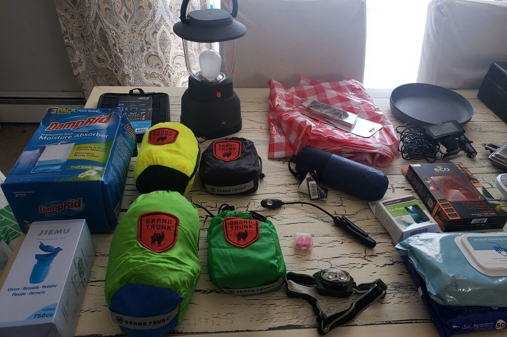 Some items that are necessary for van camping