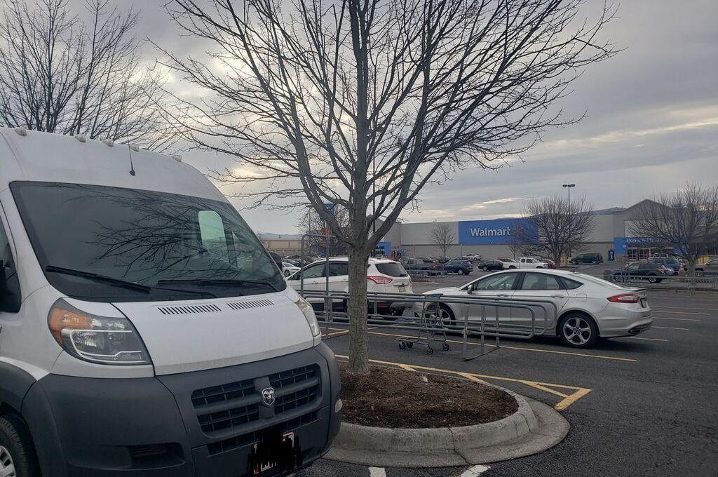 A van at Walmart
