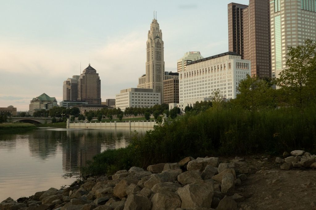 Columbus skyline from the Scioto River