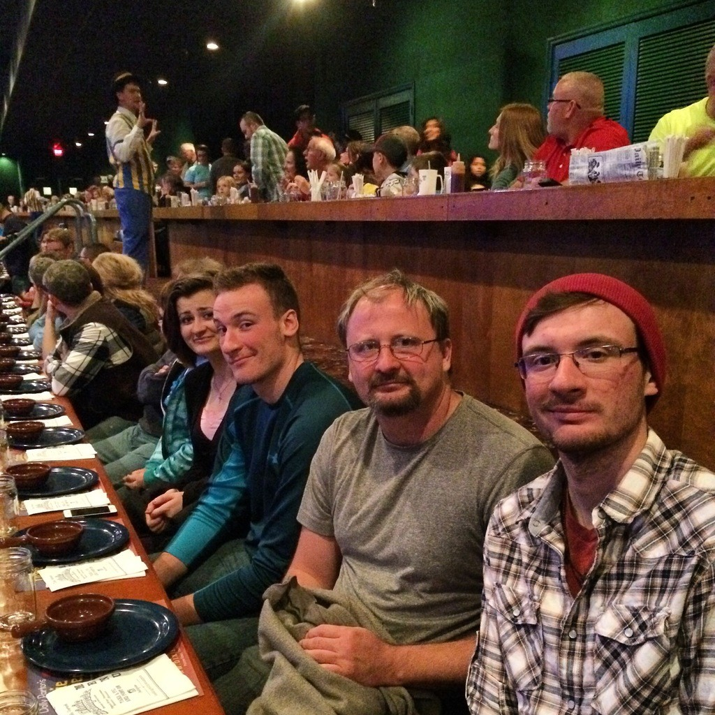 Family enjoying the Dolly Partons Stampede show in Pigeon Forge.