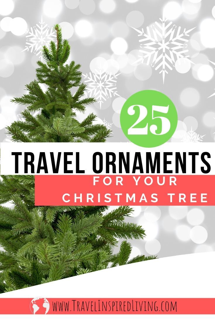Decorate your Christmas tree with Travel ornaments.