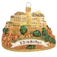 Scotland Edinburgh Castle Polish Glass Christmas Ornament Travel Souvenir