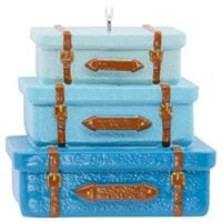 Stacked Luggage Travel Ornament Hobbies