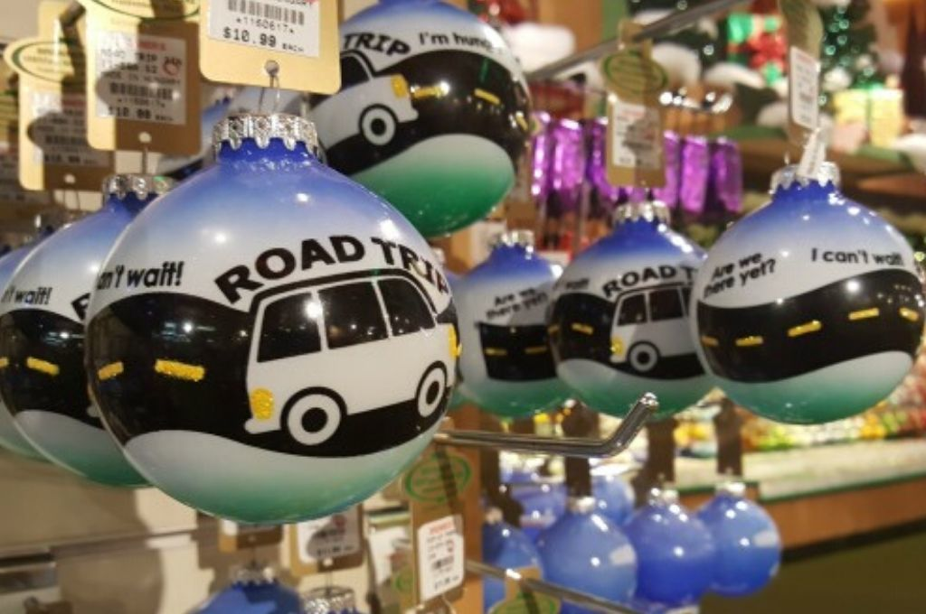 Road Trip Travel ornaments for the Christmas tree