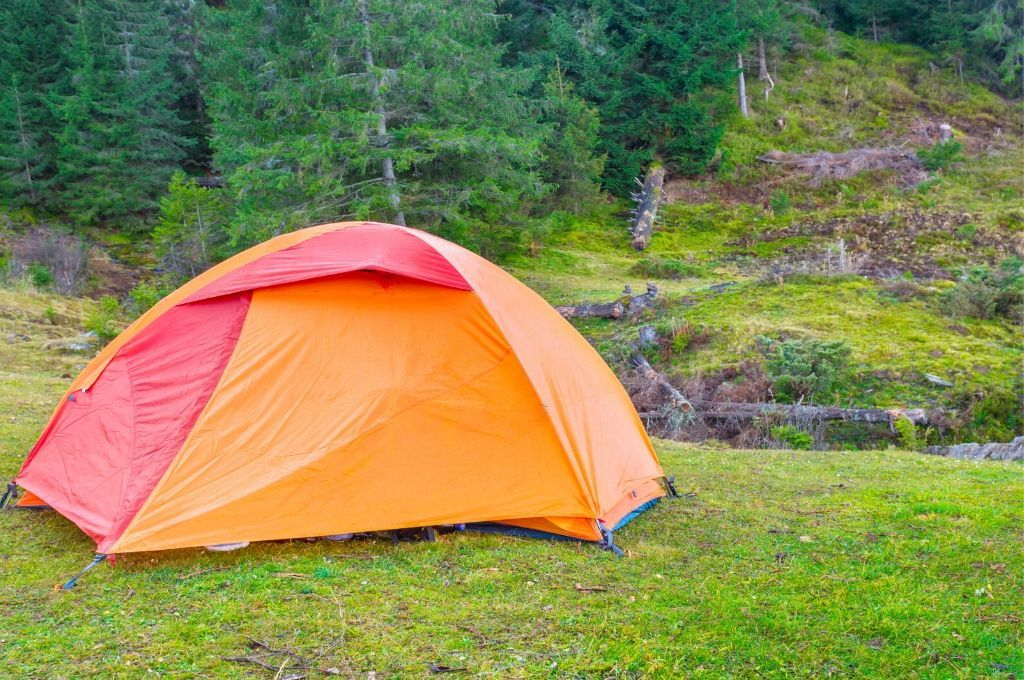 camping in a scenic location