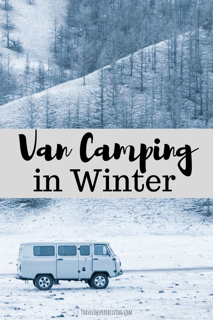 Van camping in winter can be just as fun as van camping in the summer.