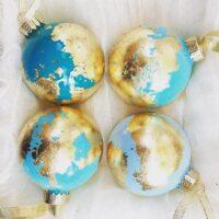 Globe Inspired Gold Leaf Ornament