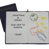 Passport Travel Personalized Christmas Ornament