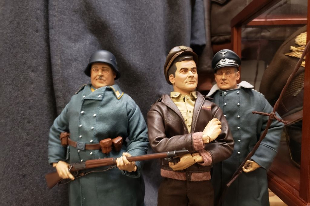 Hogan's Heroes collectible dolls in a museum