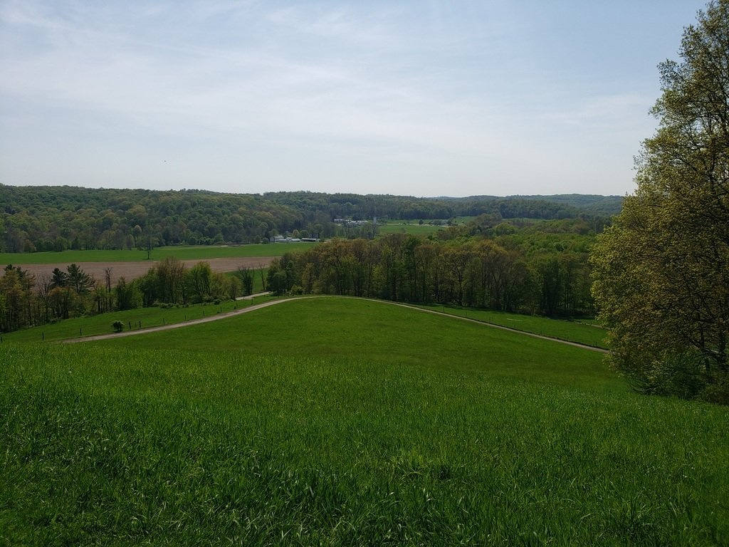 The view of Malabar State Park farm from the top of Mt. Jeez.