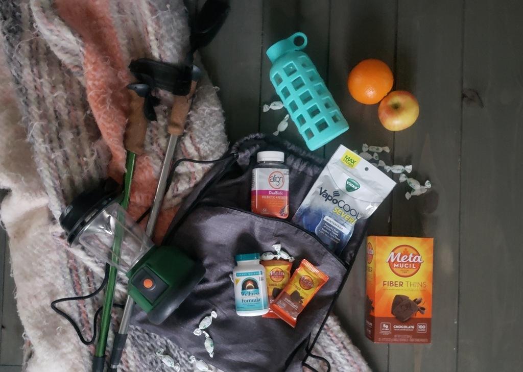 A wellness bag for travel.