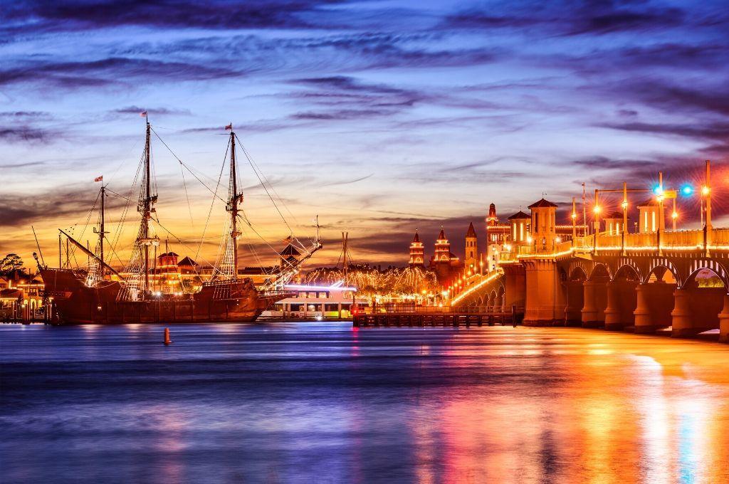 romantic sunset in St. Augustine