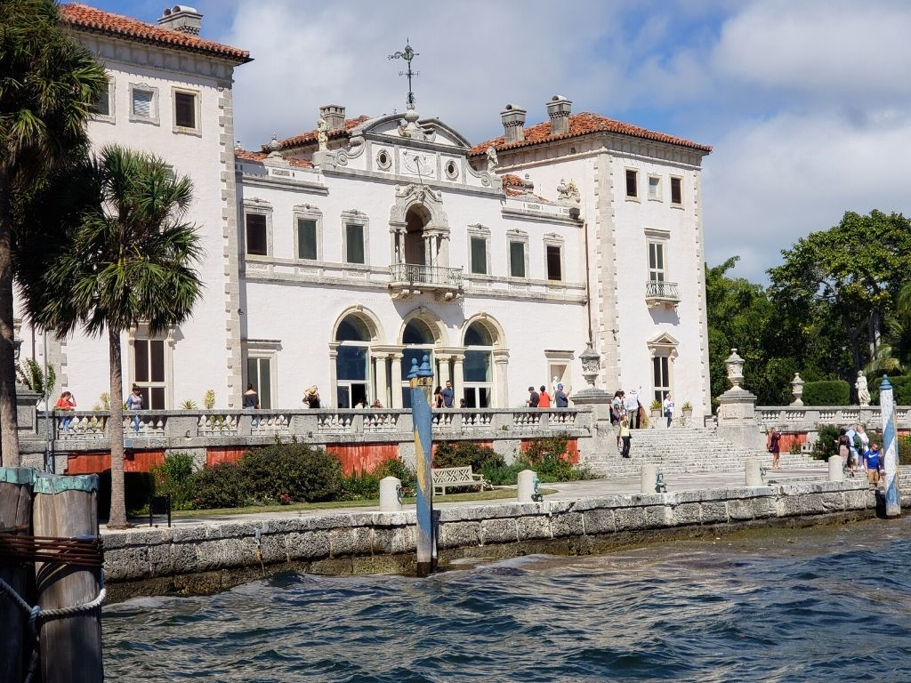 The Viscaya Mansion along Biscayne Bay