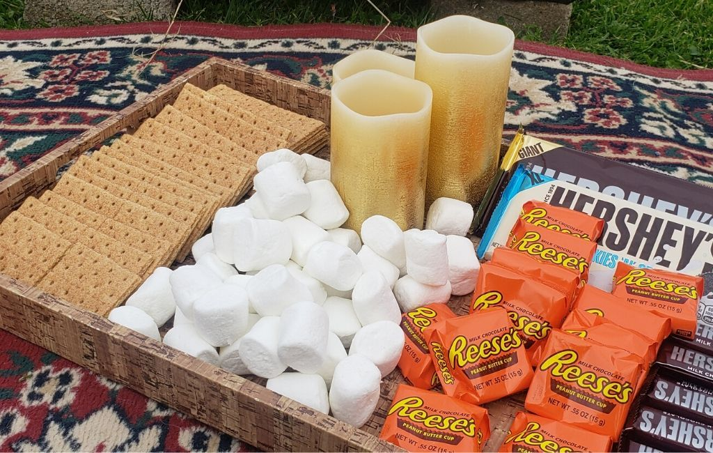 Assorted chocolates, graham crackers and marshmallows make a pretty tasty S'mores bar.