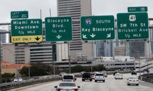 A busy interstate in Florida.