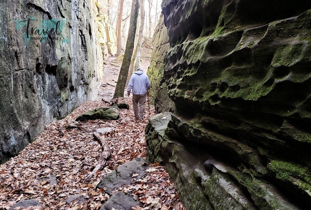 towering ledges at Whipps Ledges