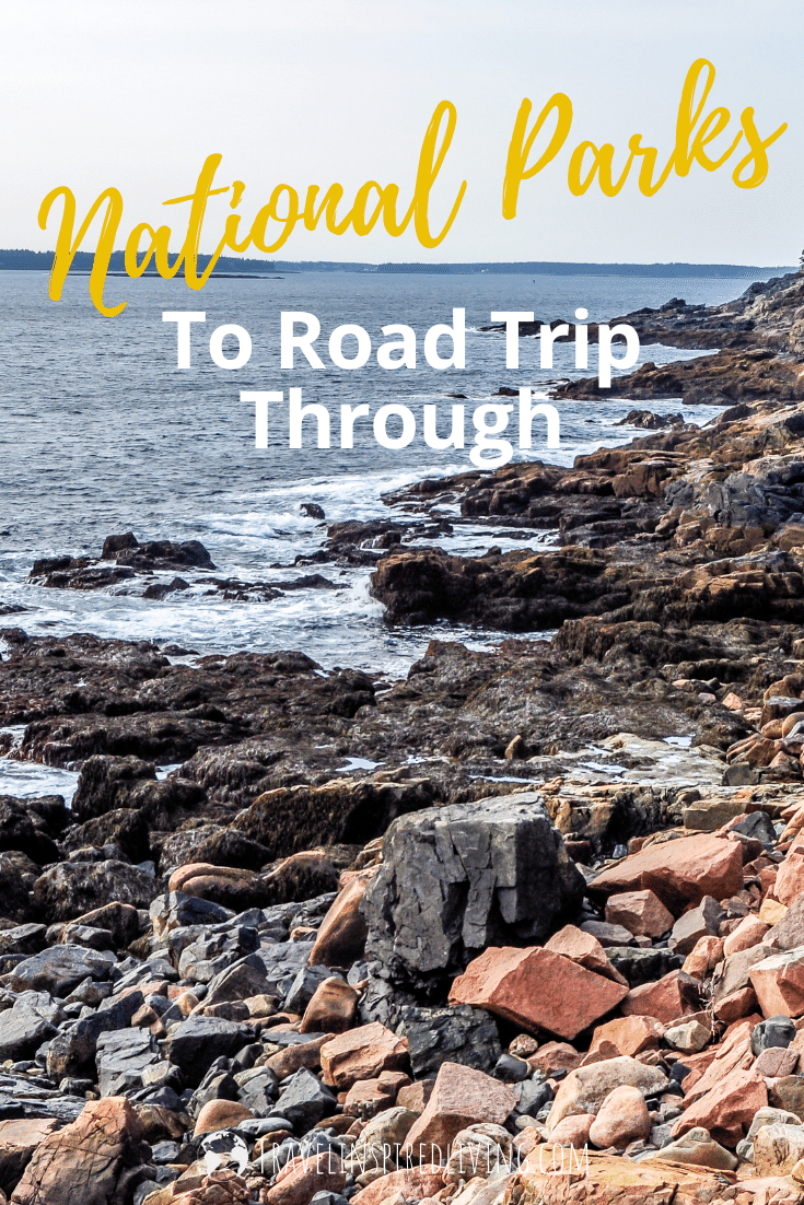 This National Park Road Trip features stunning views along the Eastern Seashore in Acadia national park.