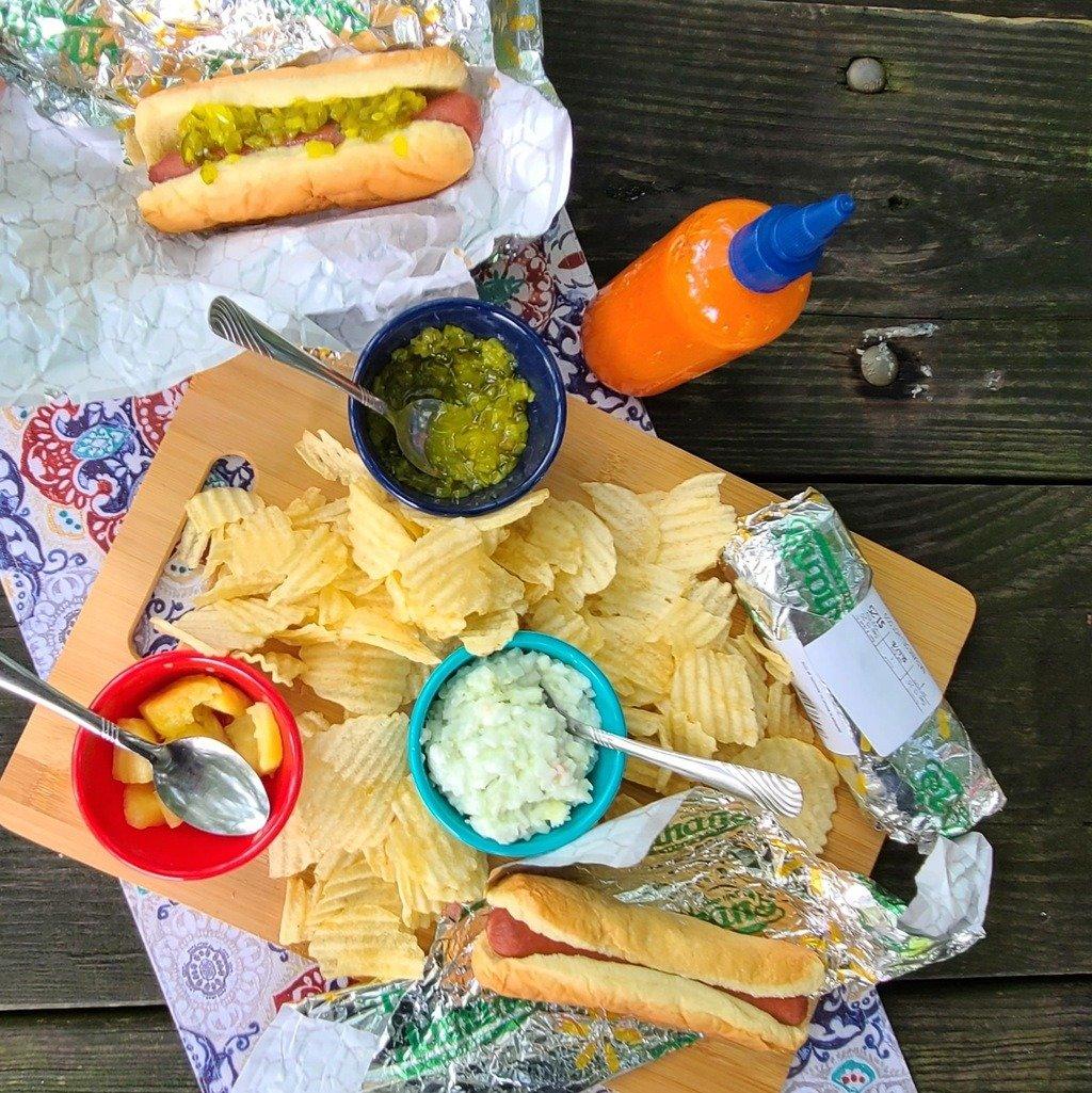 A picnic spread