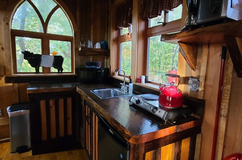 kitchen in the treehouse