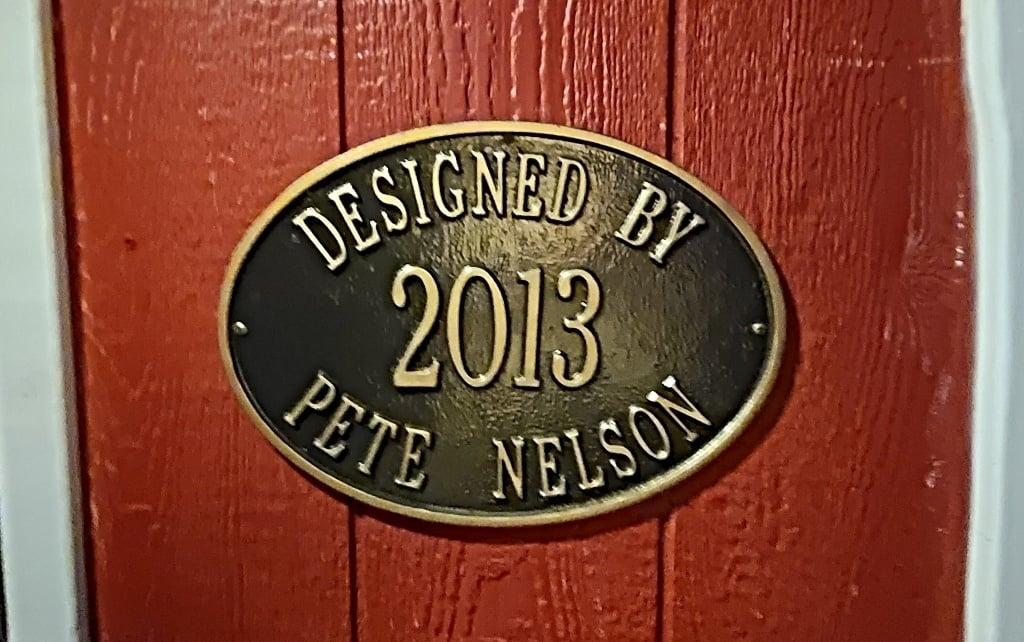 Pete Nelson plaque