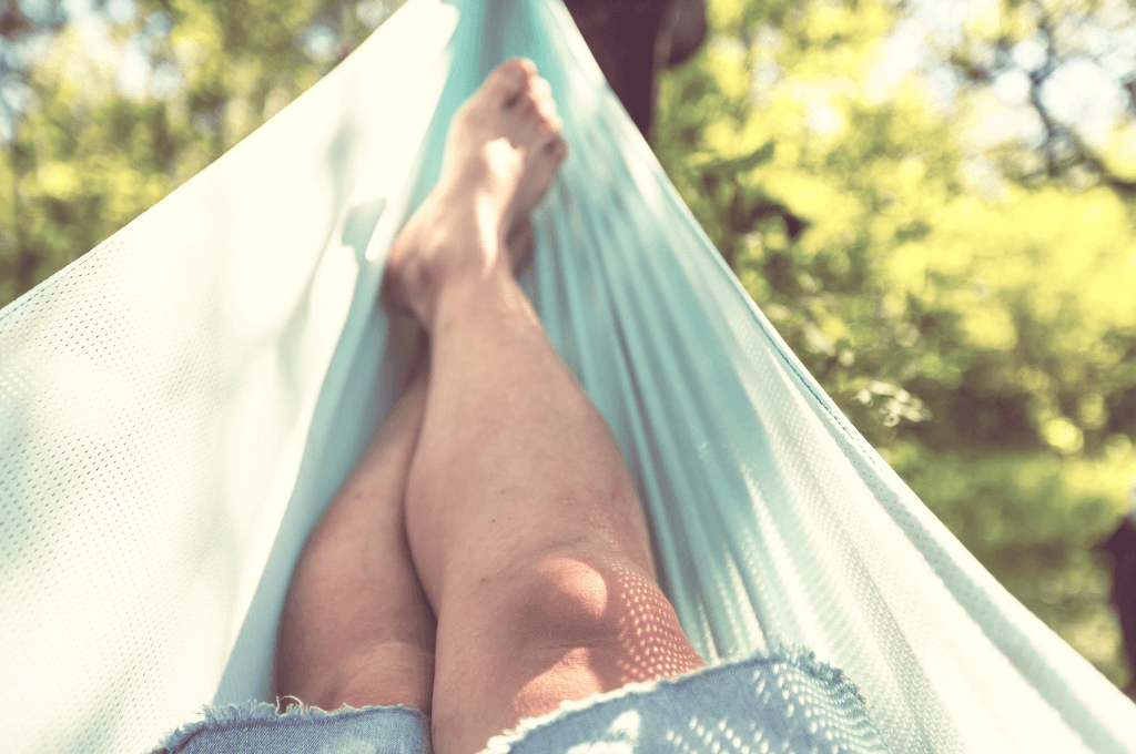 It makes sense to pack a hammock when hanging out at a treehouse.