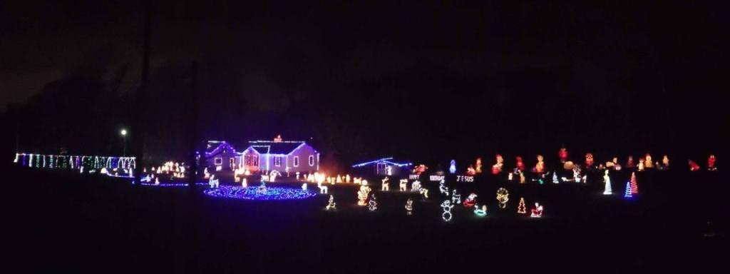 Christmas lights at a home