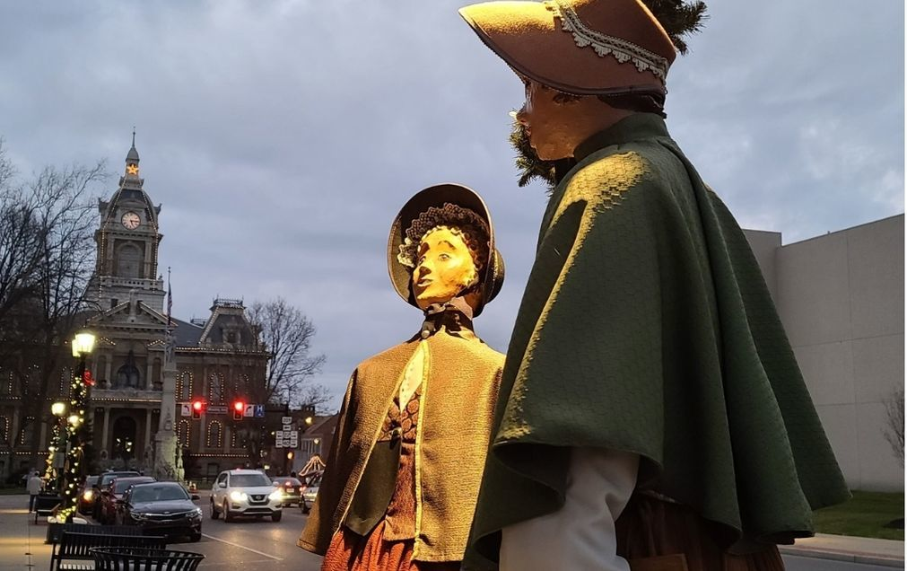 Dickens figures as the day turns to dusk