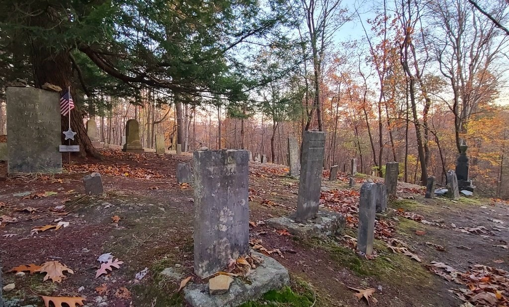 A small cemetery on the castle property.