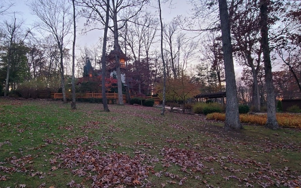 The view of Landoll's Castle on the grounds