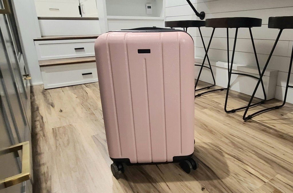 A piece of pink Chester luggage