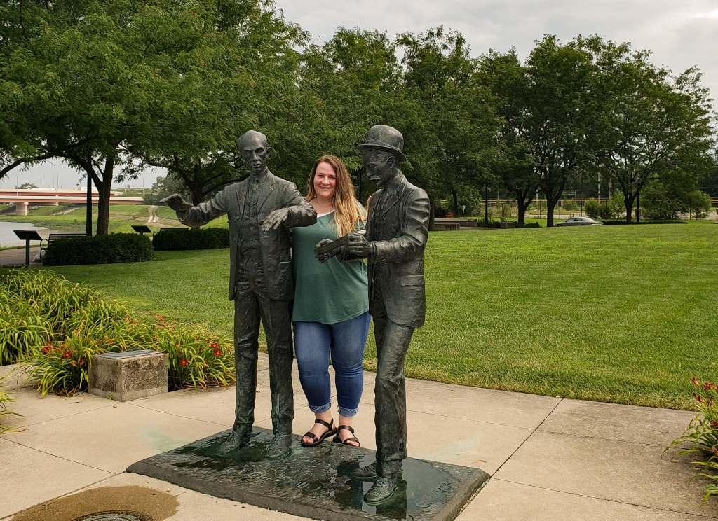 The Wright Brothers Statue in Dayton provides a fun photo opp.