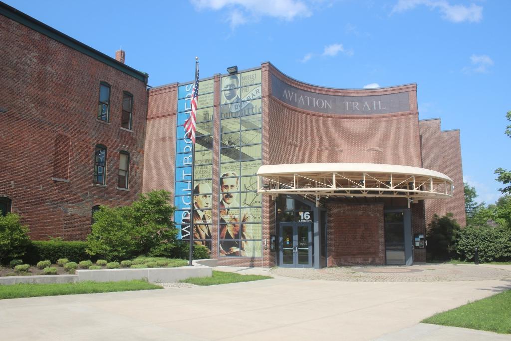 The exterior of the Dayton Aviation Heritage National Historical Park in Dayton, Ohio.